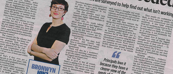 Pivot's Dr Bronwyn Hinz Features in the Daily Telegraph